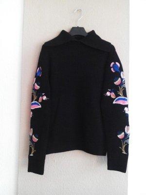 hübscher gestickter Pullover aus 50% Wolle, Grösse M, neu