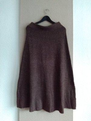 Zara Spódnica z dzianiny jasnobrązowy-jasnobeżowy Poliakryl