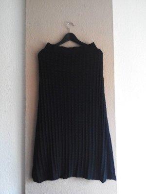 Zara Spódnica z dzianiny ciemnozielony Poliamid