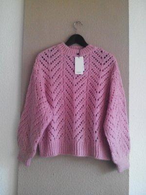 hübscher Grobstrickpullover in rosa, Grösse L, neu