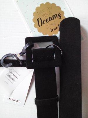 Mango Leather Belt black leather