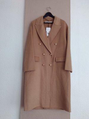 hübscher handgearbeiterter Mantel aus 46% wolle, Grösse M oversize, neu