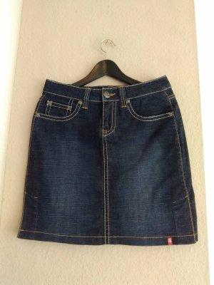 hübscher Jeans-Minirock in dunkelblau aus Baumwolle, Grösse 38
