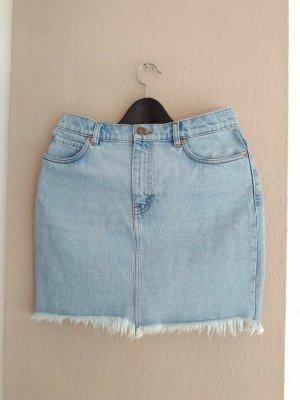hübscher Jeans-Minirock in hellblau aus Baumwolle, los Angeles Atelier, Grösse 38