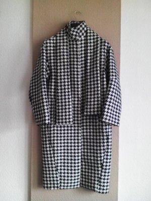 Asos Oversized Coat black-white polyester