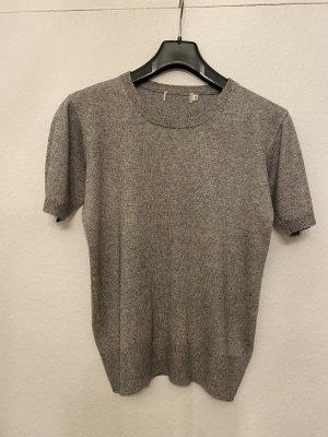 Short Sleeve Sweater grey-light grey