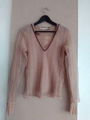 hübscher kombinierter Pullover mit Organza und Wolle, Campaing Collection, Grösse M, neu