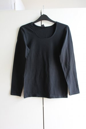 Calida Kraagloze sweater zwart
