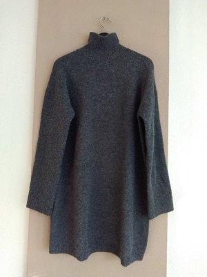 hübscher Longpullover/Strickkleid in grau, Grösse L, neu