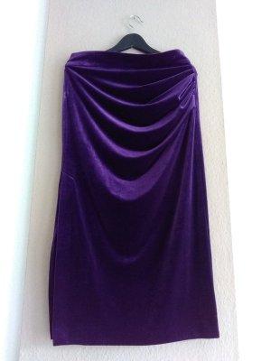hübscher Midirock in lila aus Samt, Grösse M, neu