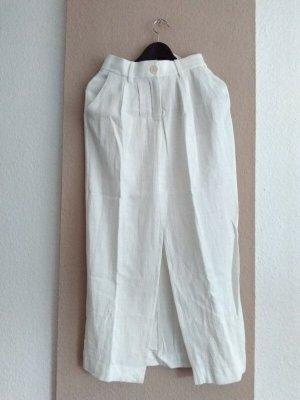 Zara Linen Skirt natural white linen