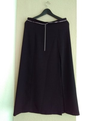 Zara Midi Skirt black-silver-colored polyester