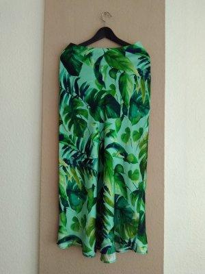 hübscher Midirock mit Tropischem-Print, Größe S, neu