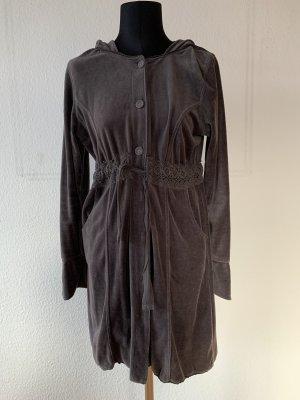 Manteau à capuche gris anthracite-gris
