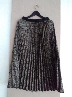 Zara Plaid Skirt black-khaki polyester