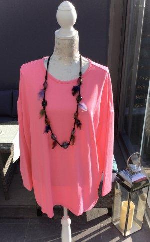 100% Fashion Kraagloze sweater roze