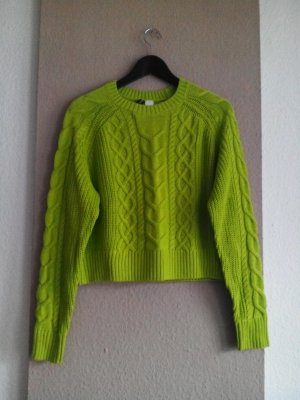 hübscher Pullover in neongrün, Grösse S, neu