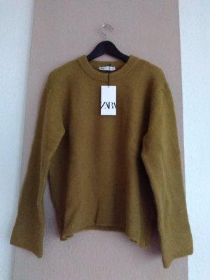 hübscher Pullover in olivgrün, Grösse L, neu