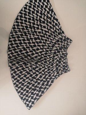 Falda stretch blanco-negro
