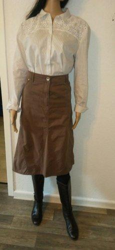 Bonita Asymetryczna spódniczka jasnobrązowy-brązowy Bawełna