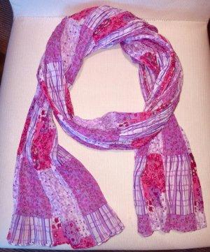 Écharpe froissée multicolore coton