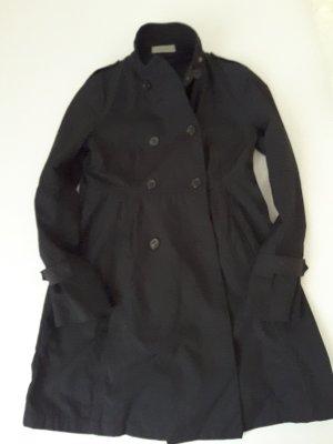 hübscher schwarzer Nylon Kurzmantel von Rene Lezard