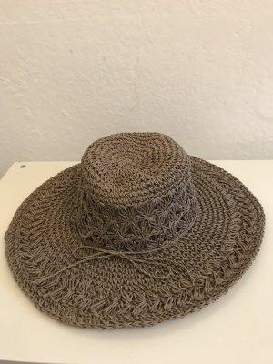 Cappello parasole marrone-grigio