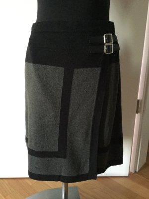Aniston Knitted Skirt black-grey