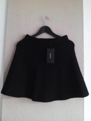 Zara Gebreide rok zwart Viscose