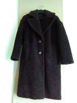 hübscher Teddy -Mantel in dunkelbraun, Grösse M