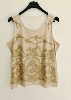Lace Top natural white-gold-colored