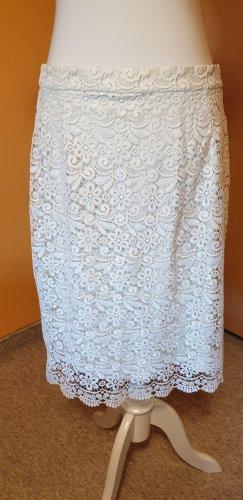 Uniqlo Falda de encaje blanco puro Poliéster