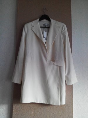 hübsches Blazer-Minikleid in creme aus 59% Viskose, Grösse L, neu