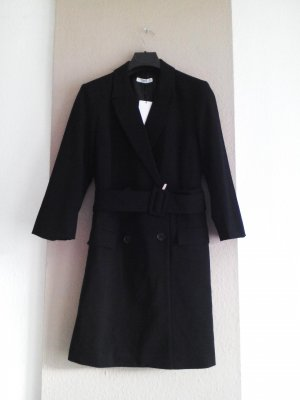 Mango Gabardina tipo vestido negro Poliéster