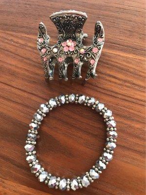 0039 Italy Copricapo argento-rosa