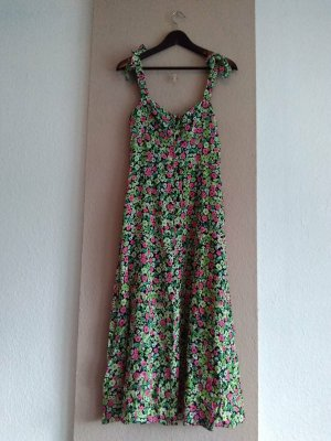 hübsches geblümtes Midi-Trägerkleid aus Viskose, Grösse M, neu