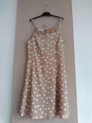 Mango Sukienka na ramiączkach nude-w kolorze białej wełny Wiskoza