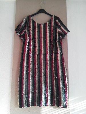 hübsches gestreiftes Paillettenkleid, Grösse 40, neu