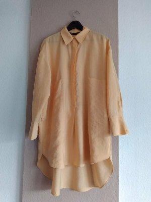 Zara Robe chemise orange lyocell