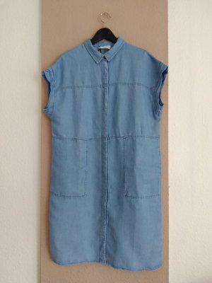 hübsches Hemdblusenkleid in hellblau aus 70% Lyocell, Grösse M, neu