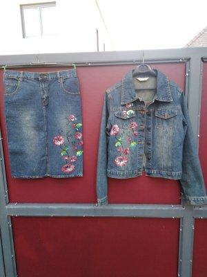 Robe en jean bleu-rose coton