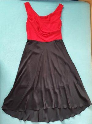 Orsay Sukienka koktajlowa czarny-czerwony Poliamid