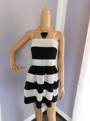 Vestido tipo overol negro-blanco