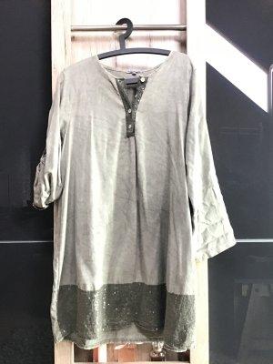 Collezione Gaia Blouse Dress khaki cotton
