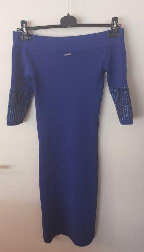 Guess Vestido strapless azul