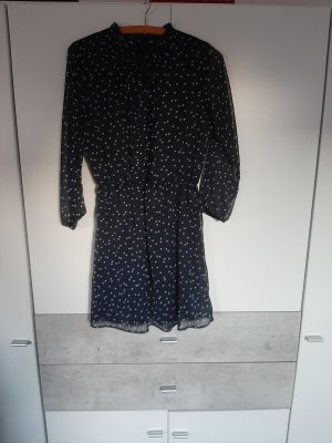C&A Robe chemise blanc-bleu foncé