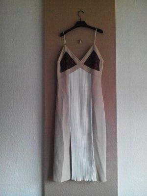hübsches kombiniertes Plissee-Trägerkleid mit Schlangeprint Detail, Grösse M, neu