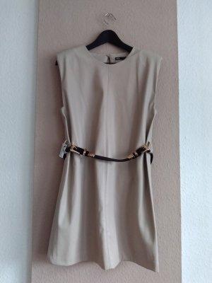 hübsches Kuntsleder Minikleid in beige, Grösse XL, neu