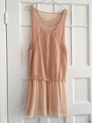 hübsches, kurzes hellrosa Rosé Nude Kleid 36