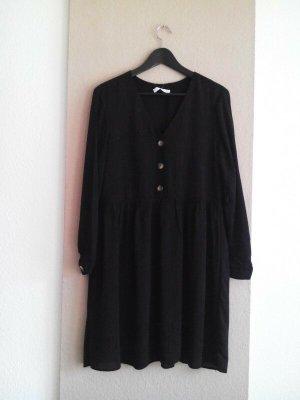 hübsches meliertes Minikleid in schwarz aus 93% Viskose, Grösse L, neu